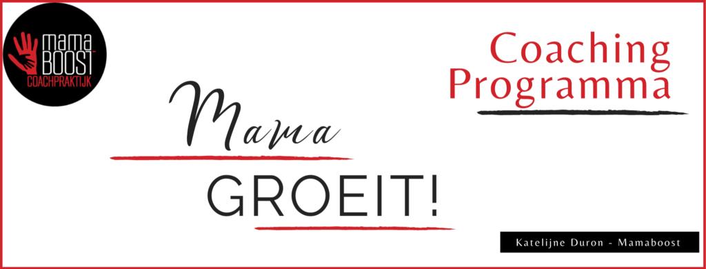 Mama groeit programma Facebook banner