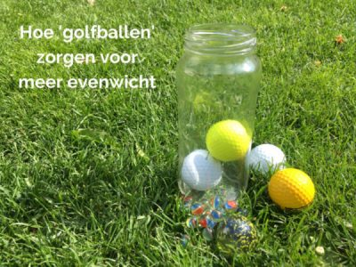 Hoe golfballen zorgen voor meer evenwicht
